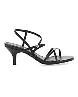 Strappy Heeled Sandals Wide EE/Extra Wide EEE Fit
