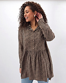 Animal Print Dipped Back Tunic