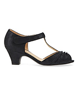 Peep Toe Occasion T Bar Shoes Wide E Fit