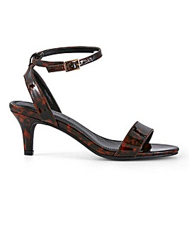 Kitten Heel Strappy Sandals Wide E Fit
