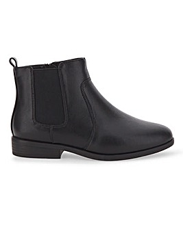 Chelsea Ankle Boots With Inside Zip Extra Wide EEE Fit