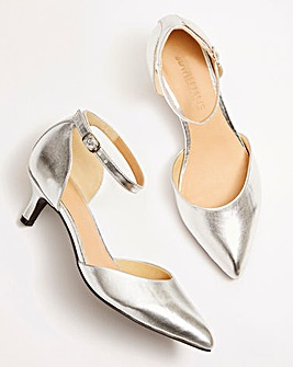 Kitten Heel Two Part Shoes E Fit