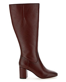 Leather High Leg Boots Wide E Fit Standard Calf Width