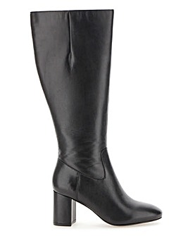 Leather Boots D Fit Standard Calf