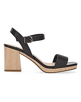 Barely There Platform Sandals Wide E Fit