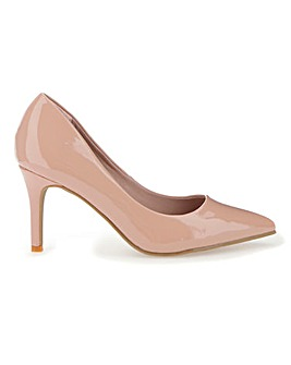 Comfort Pointed Toe Court Shoes E Fit