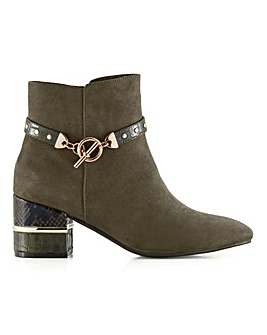 Joanna Hope Flexi Sole Strap And Heel Detail Ankle Boots Extra Wide EEE Fit