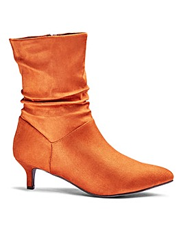 Flexi Sole Ruched Ankle Boots E Fit
