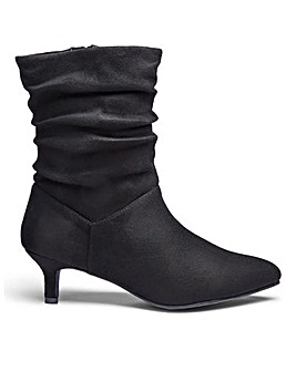 Flexi Sole Ruched Ankle Boots EEE Fit
