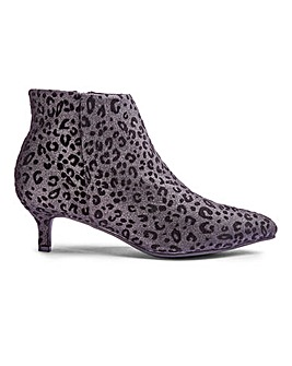Flexi Sole Kitten Heel Boots E Fit