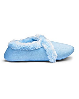 Soft Warm Lined Slippers Wide E Fit