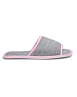 Cushioned Open Toe Mule Slippers E Fit