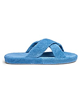 Crossover Mule Slippers Wide E Fit
