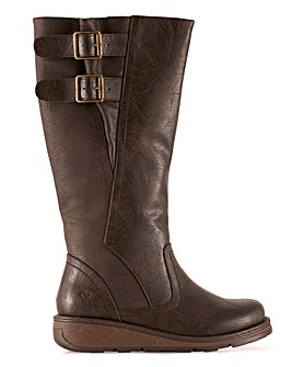 Heavenly Feet High Leg Double Buckle Boots Extra Wide EEE Fit Standard Calf