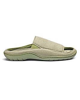 Open Toe Mule Slippers Wide E Fit
