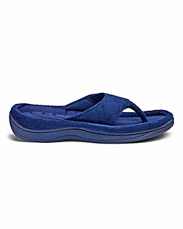 Cushioned Toe Post Mule Slippers E Fit