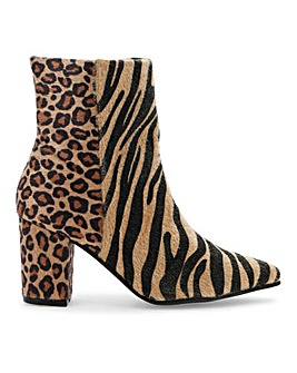 Flexi Sole Animal Print Boots E Fit