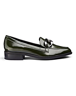 Flexi Sole Chain Trim Loafers Wide E Fit