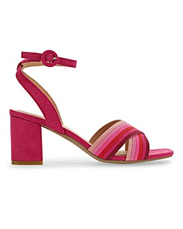 Multi Colour Block Heel Sandals E Fit