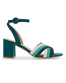 Multi Colour Block Heel Sandals EEE Fit