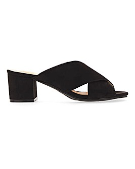 Crossover Strap Mule Sandals E Fit