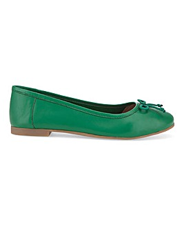Leather Ballerina Shoes D Fit