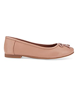 Leather Ballerina Shoes E Fit