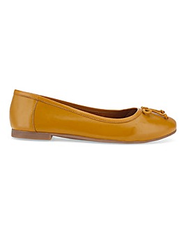 Leather Ballerina Shoes Standard D Fit