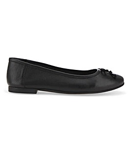 Leather Ballerina Shoes Wide E Fit
