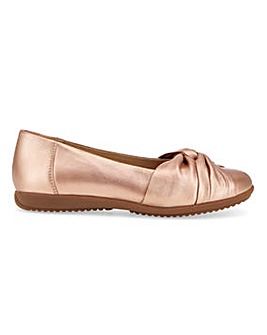 Comfort Leather Ballerinas EEE Fit