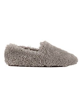 Teddy Fluff Slippers Wide E Fit