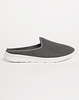 Leisure Style Mule Slippers Wide E Fit