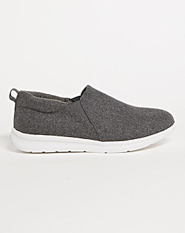 Leisure Style Full Slippers Wide E Fit