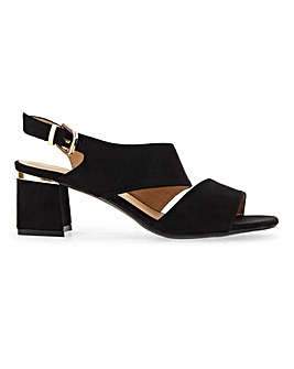 Asymmetric Strap Sandals EEE Fit