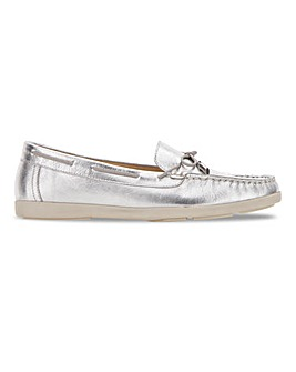 Leather Bow Trim Loafers Extra Wide EEE Fit