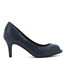 Peep Toe Court Shoes Wide E Fit