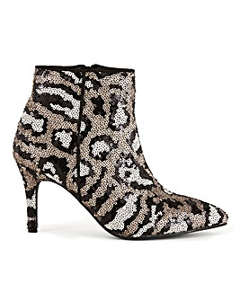 Flexi Sole Sequin Ankle Boots Extra Wide EEE Fit