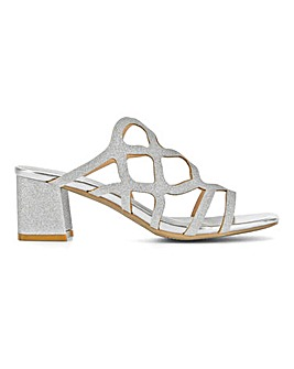 Flexi Sole Cut Out Mule Sandals EEE Fit