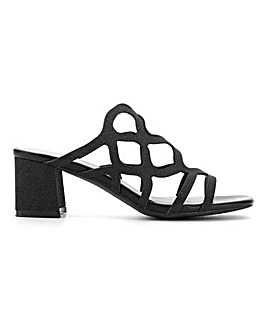 Flexi Sole Cut Out Mule Sandals E Fit