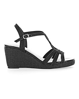 Glitzy Wedge Sandals Wide E Fit