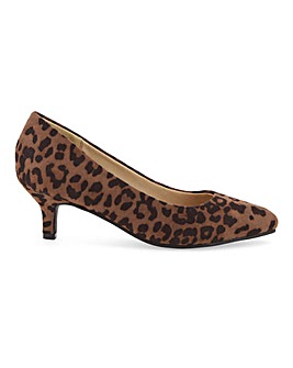 Flexi Sole Kitten Heel Shoes E Fit