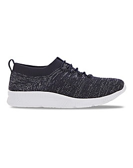 Slip On Mock Lace Trainers Extra Wide EEE Fit