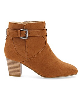Flexi Sole Buckle Ankle Boots E Fit