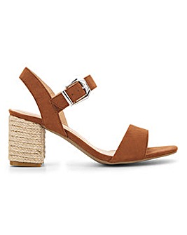 Flexi Sole Raffia Heel Sandals EEE Fit
