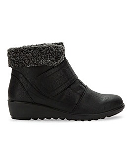 Cushion Walk Touch And Close Ankle Boots Extra Wide EEE Fit