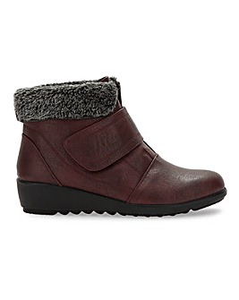 Cushion Walk Touch And Close Ankle Boots Wide E Fit