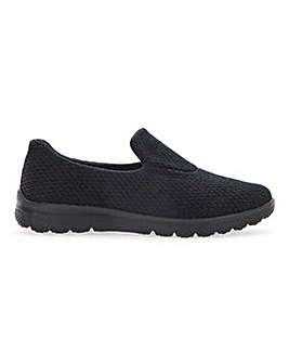 Cushion Walk Slip On Leisure Shoes Ultra Wide EEEEE Fit