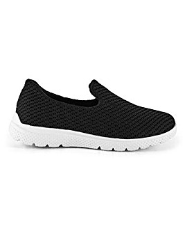 Cushion Walk Slip On Leisure Shoes Wide E Fit