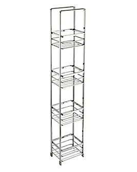 Modern Chrome 4 Tier Rectangle Unit