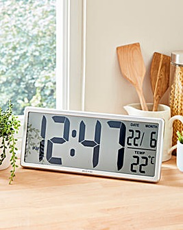 Jumbo Easy Read LCD Autoset Clock